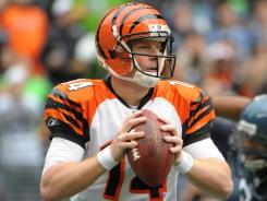 Cincinnati Bengals quarterback Andy Dalton has thrown at least one touchdown pass in six of his seven games.