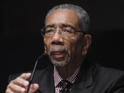 Rep. Bobby Rush, D-Ill., took part in part in a congressional roundtable on college sports on Capitol Hill in Washington on Tuesday.