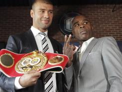 Bute, left, and Glen Johnson will fight for Bute's IBF super middleweight title.