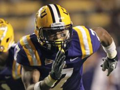 LSU cornerback Tyrann Mathieu, nicknamed 'Honey Badger,' specializes in forcing turnovers.