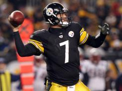 Steelers quarterback Ben Roethlisberger comes off a victory over the Patriots in which he threw 50 passes, completing 36 for 365 yards and two touchdowns.