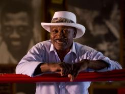 Former heavyweight champion Joe Frazier, seen here in August 2009 at his gym in North Philadelphia,  has been diagnosed with liver cancer and is currently under hospice care.