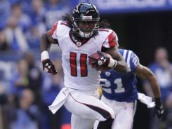 Atlanta Falcons' rookie receiver Julio Jones enjoyed a career day against the Indianapolis Colts.