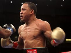 James Kirkland, seen here during a March fight in Los Angeles, survived a brutal first-round knockdown to beat Alfredo Angulo.