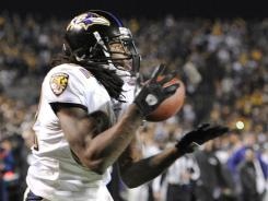 Torrey Smith hauls in the game-winning touchdown catch to lift the Ravens over the division-rival Steelers.