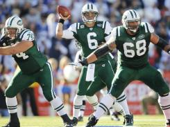 It's time for New York Jets quarterback Mark Sanchez (6) to step up.
