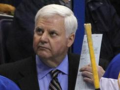 Ken Hitchcock managed his team to a 3-0 shutout victory in his debut as head coach of the Blues.