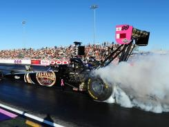"Del Worsham, who won at The Strip at Las Vegas Motor Speedway to cut Spencer Massey's Top Fuel to two points, said, ""I feel good about going into Pomona."""
