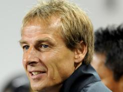 U.S. coach Jurgen Klinsmann is shown here before a friendly against  Ecuador on Oct. 11 at Red Bull Arena in Harrison, N.J.