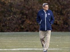Penn State's Joe Paterno oversees his last practice as head coach on Nov. 9.
