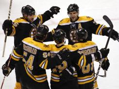 The defending Stanley Cup champion Bruins have 30 goals in their season-high five-game winning streak.