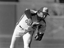 Charlie Lea, seen here pitching in the 1984 All-Star Game at Candlestick Park in San Francisco, died Friday at the age of 54. Lea was 62-48 with a 3.54 ERA in his seven-year career, and threw a no-hitter on May 10, 1981.