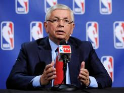 "David Stern had harsh words for player agents, calling them ""greedy,"" and said union decertification is a ""losing strategy"" for players."