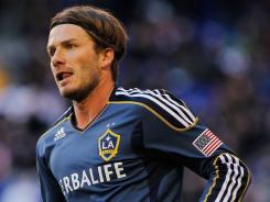 Galaxy midfielder David Beckham was voted MLS comeback player of the year Monday. The England international scored two goals and had 15 assists during the regular season for Los Angeles.