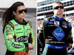 Danica Patrick, left, and Ricky Stenhouse Jr. formed a friendship in rookie driver meetings in 2010 when both were adjusting to driving stock cars.