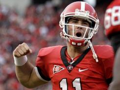 Georgia sophomore quarterback Aaron Murray leads the SEC in passing efficiency and has thrown nine touchdowns without an interception over his past two games.