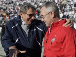 A year ago, Joe Paterno and Penn State playing Jim Tressel and Ohio State would have been a matchup of two college football powers led by coaches with images beyond reproach.