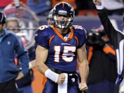 Tim Tebow improved to 4-1 as a starter this season and got the Broncos back to .500 at 5-5.
