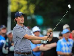 Webb Simpson and partner Bubba Watson split their two matches Saturday, taking their first loss of the Presidents Cup, but they've helped Team USA to the lead.