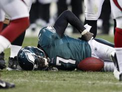 Michael Vick has not been ruled out for Sunday's game, but he has not practiced since breaking ribs last week against the Cardinals.