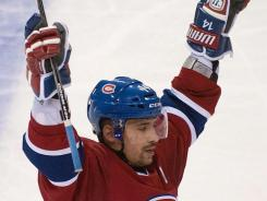 Tomas Plekanec scored his fifth goal of the season on a power play in the third period to help stop the Rangers' winning streak at seven.