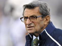 Joe Paterno, seen here on Oct. 22, has had to deal with the sexual abuse scandal at Penn State and it was revealed this week that he's dealing with a treatable form of lung cancer.