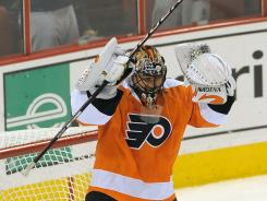 Philadelphia Flyers goalie Ilya Bryzgalov has turned around his game since a meltdown against the Winnipeg Jets.