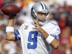 Tony Romo passed for three TDs in the Cowboys victory against the Redskins.