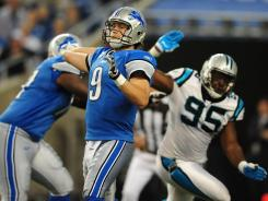 Lions QB Matthews Stafford's five TD passes Sunday matched his career high.