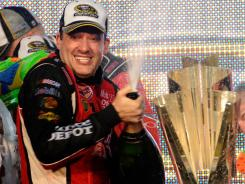 Tony Stewart was able to pop the victory champagne thanks to a dominant charge through the 10-race Chase for the Sprint Cup championship.