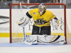 Merrimack senior goaltender Joe Cannata leads Hockey East this season with a 1.47 goals-against average and .940 save percentage.