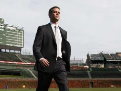 """Theo Epstein says Wrigley Field is """"a unique ballpark to put a team together for. We have to find a good balance because we have to play two different styles at home."""""""