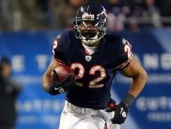 Chicago Bears running back Matt Forte should get a huge workload with Caleb Hanie starting at quarterback.