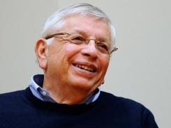 NBA Commissioner David Stern is all smiles after reaching a tentative agreement early Saturday to end the 149-day NBA lockout and get a season started in December.
