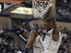 Connecticut and forward Roscoe Smith topped UNC-Asheville in the Bahamas on Thursday night.