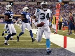 Panthers RB DeAngelo Williams reached the end zone twice Sunday in Indianapolis.