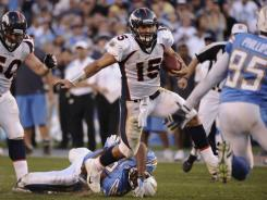 Broncos QB Tim Tebow is 5-1 in 2011 after Sunday's OT win at San Diego.