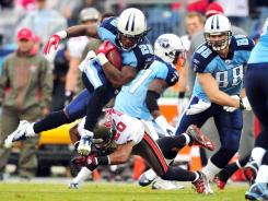 Titans RB Chris Johnson exceeded his previous rushing high for 2011 by 60 yards Sunday.