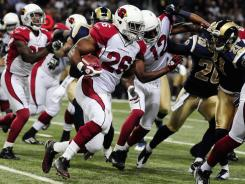 "Cardinals RB Chris ""Beanie"" Wells carved up the Rams after Thanksgiving."