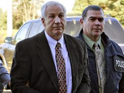 Former Penn State assistant coach Jerry Sandusky is accused of sexual assaulting nine boys.