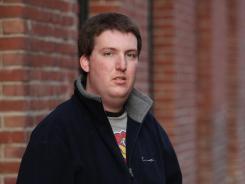 Zach Tomaselli, 23, shown Monday, is the third man to accuse Bernie Fine of abuse.
