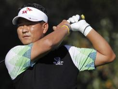 K.J. Choi of South Korea tees off on the eighth hole on his way to a first-round 66 in the Chevron World Challenge.