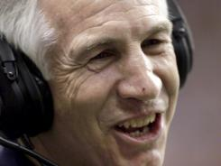 One Jerry Sandusky's (pictured) accusers had dinner with the former Penn State defensive coordinator last Summer after receiving permission from police.