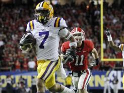 Tyrann Mathieu started the scoring for LSU with his 62-yard punt return against Georgia.