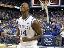 Freshman Michael Kidd-Gilchrist notched a double-double, scoring 17 points and adding 11 rebounds in Kentucky's 73-72 win over North Carolina on Saturday afternoon.