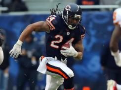 Chicago Bears running back Marion Barber.
