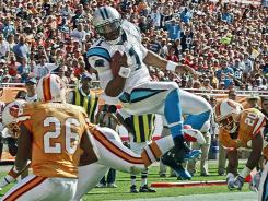 Panthers QB Cam Newton continued his high-flying rookie season Sunday in Tampa.