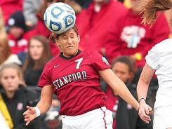 Stanford's Teresa Noyola (7) scored the lone goal of the College Cup against Duke. It was the Cardinal's first NCAA women's soccer title.