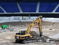 A file photo of the Miami Marlins' new downtown stadium.