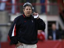 Former Texas Tech Red Raiders head coach Mike Leach during the game with the Nebraska Cornhuskers at Memorial Stadium. Leach was fired in 2009.